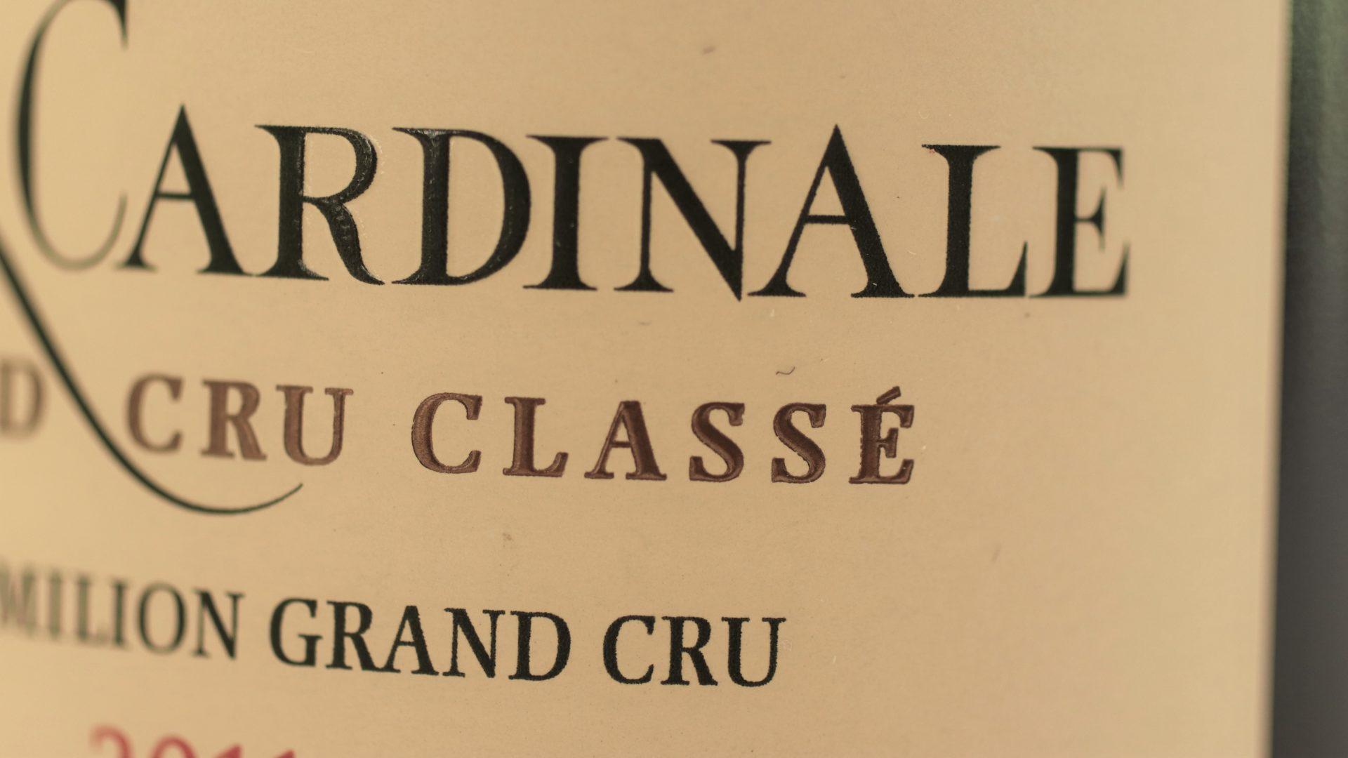 Détail de l'étiquette - © C. Decoster, Château Fleur Cardinale